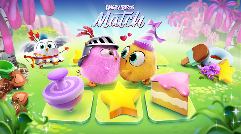 ApkMod1.Com Angry Birds Match v1.5.1 + МOD (80 Moves/Unlimited Lives/Coins/Gems & More) download free Android Game Puzzle
