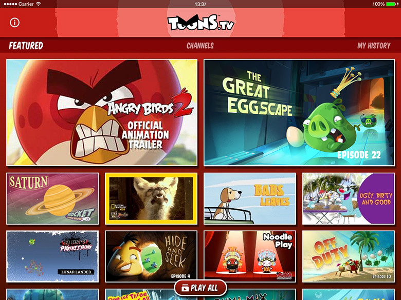toon in rovio launches toonstv app for family entertainment on the